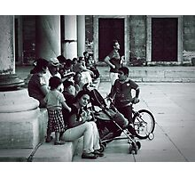 Waiting in the garden of Blue Mosque. Photographic Print