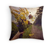 With a touch of Melancholy and a dash of Whimsy  Throw Pillow