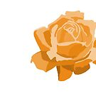 Orange Rose by Wendy Tyrer