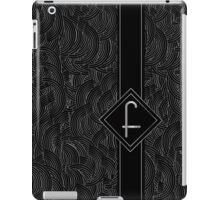 1920s Jazz Deco Swing Monogram black & silver letter F iPad Case/Skin