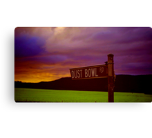 Dust Bowl Road Canvas Print