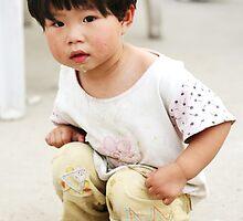 [china doll]... roadside on restaurant street in Beijing by homemadeinchina