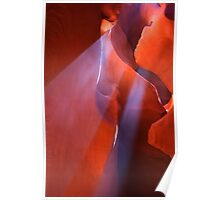 Beams of light, Antelope slot canyon in the American southwest Poster