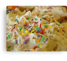 Frosted Icing Sugar Rush Sprinkles!  Canvas Print