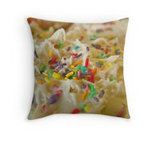 Frosted Icing Sugar Rush Sprinkles!  Throw Pillow