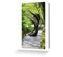 Swordfish sculpture Greeting Card