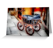 Antique Dolls' Pram Greeting Card