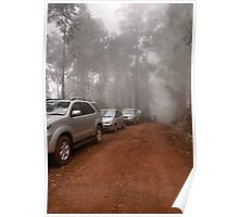 CONVOY IN THE MIST - Limpopo Province South Africa Poster