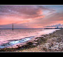 Sunset at South Parade Pier by gypsymatt21