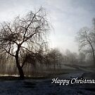 Willow In The Mist - Christmas Card by Samantha Higgs