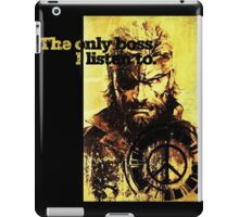 MGS The only boss iPad Case/Skin