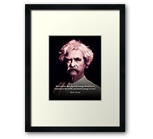 Mark Twain on Moral Courage Framed Print