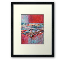 Cool sea in the heat of summer Framed Print