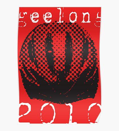 bike Helmet Geelong 2010 Poster