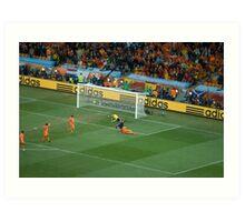 Iniesta Winning goal World Cup final 2010 Art Print
