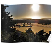 Dunes and Sunset....Banyon, Oregon Poster