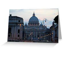 San Pietro di Notte, Roma/Italia Greeting Card