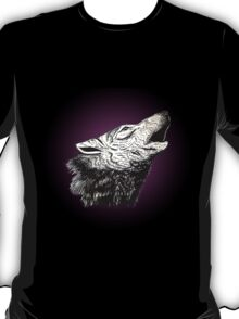 Wolf (purple outline) T-Shirt