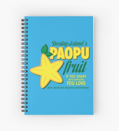 Paopu Fruit - Kingdom Hearts Spiral Notebook