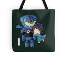 Pacific Rim- Mako Mori and Gipsy Danger Chibi by KlockworkKat Tote Bag