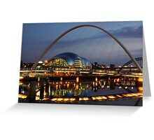 River Tyne Reflections, Newcastle-Gateshead Greeting Card