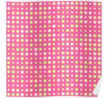 Sweet Cute Pink Flowers Poster