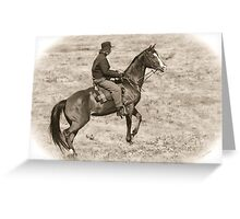Horse Soldier Greeting Card