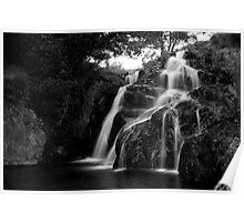 Waterfall near Snowdon Poster