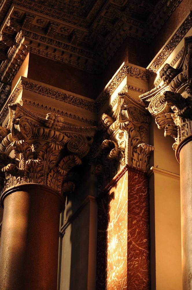 Capitals in S.M degli Angeli, Rome by Alex Maciag