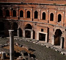Column in Trajan's Market, Rome by Alex Maciag
