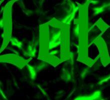 Green Love Loki on Black (Serpentine) Sticker