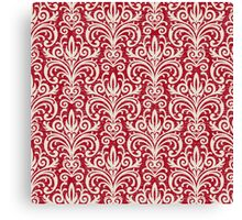 Red Damask Canvas Print