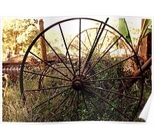#SERIES WEGRAAKBOSCH -OLD FORGOTTON FARM IMPLEMENTS - Limpopo Province, South Africa Poster