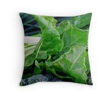 Gorgeously Green Veg Throw Pillow