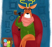 Hipster Deer by sailormary