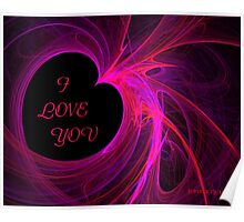 RED HEART - I LOVE YOU  Poster