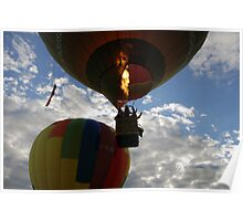 Evening Hot Air Balloon Flight  Poster