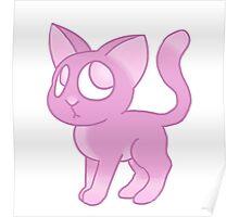 Pink Kitten Poster