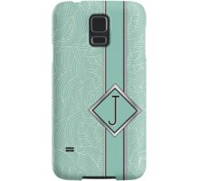 1920s Blue Deco Swing with Monogram letter j Samsung Galaxy Case/Skin