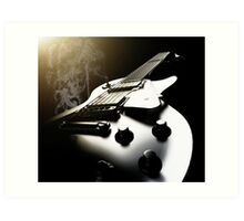 La Guitarra Fumadores - David Watts Art Print