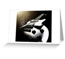 La Guitarra Fumadores - David Watts Greeting Card