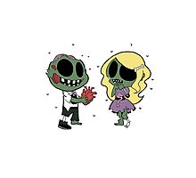 Zombies in Love Photographic Print