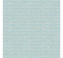 Blue Everyday Chevron Photographic Print