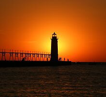 Beautiful Lake Michigan Sunset by Sharon Gallentine