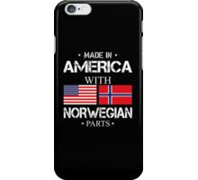 Made In America With Norwegian Parts - Tshirts iPhone Case/Skin