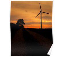Windfarm Sunset Poster