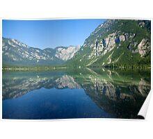 Summer alpine reflections Poster