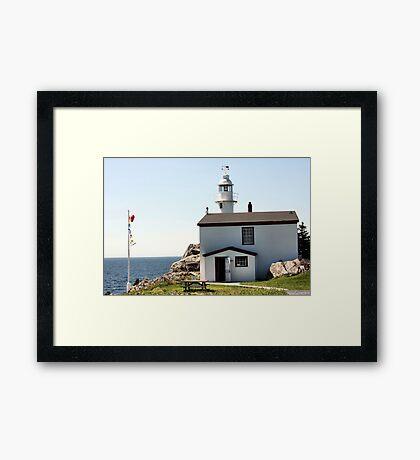 Lobster Cove Head Lighthouse Rocky Harbor Framed Print