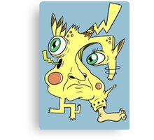 Effed Up Pikachu Canvas Print
