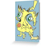 Effed Up Pikachu Greeting Card